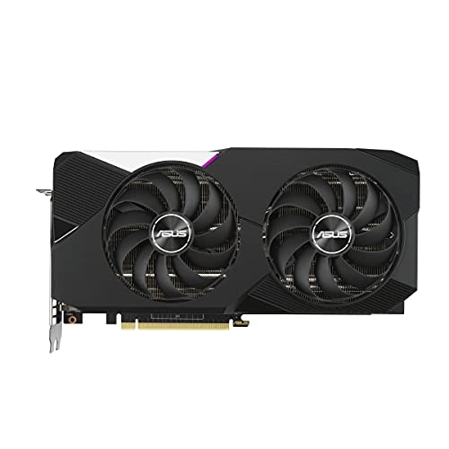 ASUS Dual Nvidia GeForce RTX 3070 V2 8GB OC Edition Gaming Grafikkarte (Lite Hash Rate (LHR), GDDR6 Speicher, PCIe 4.0, 2x HDMI 2.1, 3x DisplayPort 1.4a, DUAL-RTX3070-O8G-V2)