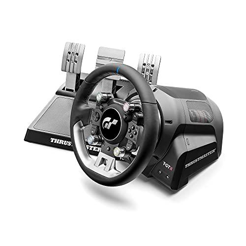 Thrustmaster T-GT II, offiziell lizenziertes Racing Wheel für PlayStation 5 und Gran Turismo mit einem 3-Pedalset (auch kompatibel mit PS4, PC)