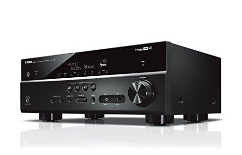 Yamaha RX-V585 MC AV-Receiver (7.2 Netzwerk-Receiver mit herausragendem Music Cast Surround-Sound - für Kino-Atmosphäre zuhause – Kompatibel mit Alexa Sprachsteuerung) schwarz