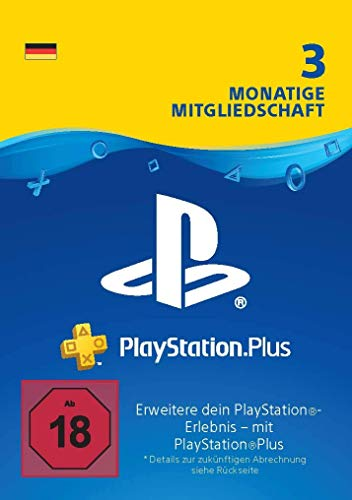 PlayStation Plus Mitgliedschaft | 3 Monate | deutsches Konto | PS4 Download Code