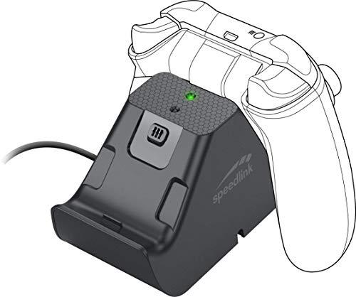 SPEEDLINK Jazz USB Charger - Ladegerät und Akkupack für bis zu 2 Controller der Xbox Series X/S, schwarz