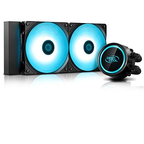 DeepCool Gammaxx L240 RGB V2 Anti-Leak Kühlsystem 240 mm Flüssigkühlkörper RGB 12 V 4-Pin kompatibel mit Intel 115X/2066 und AMD AM4