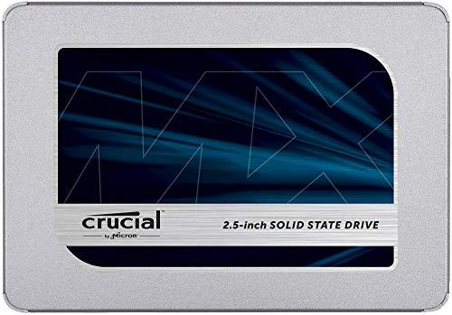 Crucial MX500 500GB CT500MX500SSD1-bis zu 560 MB/s (3D NAND, SATA, 2,5 Zoll, Internes SSD)