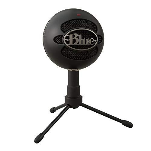 Blue Microphones Snowball iCE USB-Mikrofon zum Aufnehmen und Streamen auf PC und Mac, Nieren-Kondensator-Kapsel, verstellbarer Ständer, Plug und Play, Schwarz