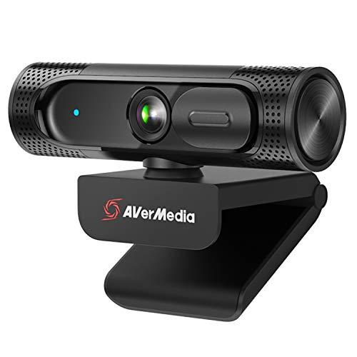 AVerMedia PW315 Full HD 1080p 60fps Streaming-Webcam mit Mikrofon, Ultraweitwinkel, USB Plug & Play, KI Auto-Framing und Abdeckung, für Twitch und Gaming, kompatibel mit der GeForce RTX Serie