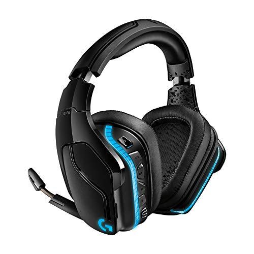 Logitech G935 kabelloses Gaming-Headset mit LIGHTSYNC RGB, 7.1 Surround Sound, DTS Headphone:X 2.0, 50mm Treiber, Flip-Stummschaltung, Wireless Verbindung, PC/Xbox One/PS4/Nintendo Switch - Schwarz