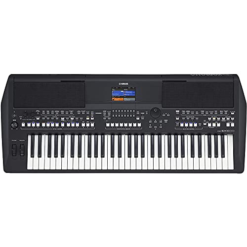 Yamaha PSR-SX600 Digital Keyboard, schwarz – Hochwertiges Digital Arranger Workstation Keyboard mit 850 authentischen Instrumentenklängen & DJ-Styles – 61 anschlagdynamische Tasten