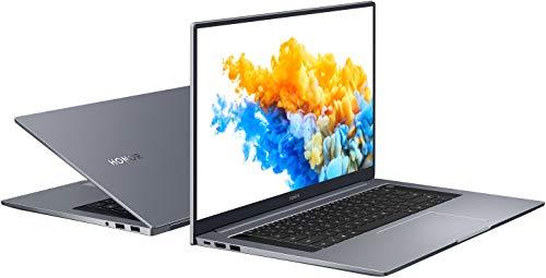 HONOR MagicBook Pro Laptop, 40,9 cm (16,1 Zoll), Full HD IPS, 512 GB PCIe SSD, 16 GB RAM, AMD Ryzen 5 4600H, Fingerabdrucksensor, Deutsches QWERTZ-Layout, Windows 10 Home - Space Grey