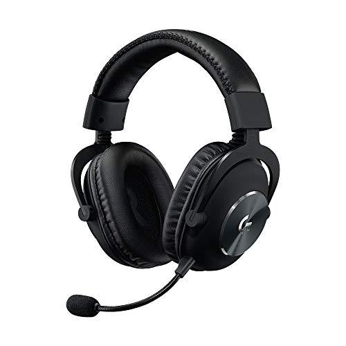 Logitech G PRO X Gaming-Headset, Over-Ear Kopfhörer mit Blue VO!CE Mikrofon, DTS Headphone:X 7.1, PRO-G 50mm Lautsprechern, 7.1 Surround Sound für Esport Gaming, PC/PS/Xbox/Nintendo Switch - Schwarz