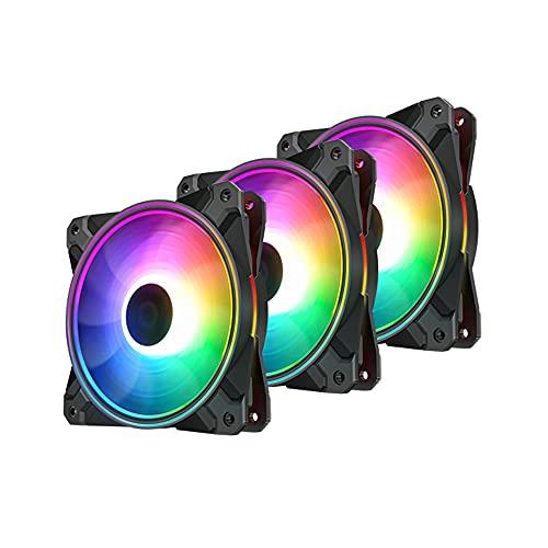 DeepCool CF 120 Plus 3in1 120x120x25 Gehäuselüfter, schwarz/transparent, 3er