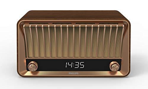 Philips Audio DAB+ VS700/10 mit Bluetooth (Bluetooth, DAB+, 2 Breitbandlautsprecher, Bassreflexöffnung, Dimmbares Digitaldisplay, 20 Watt) Braun