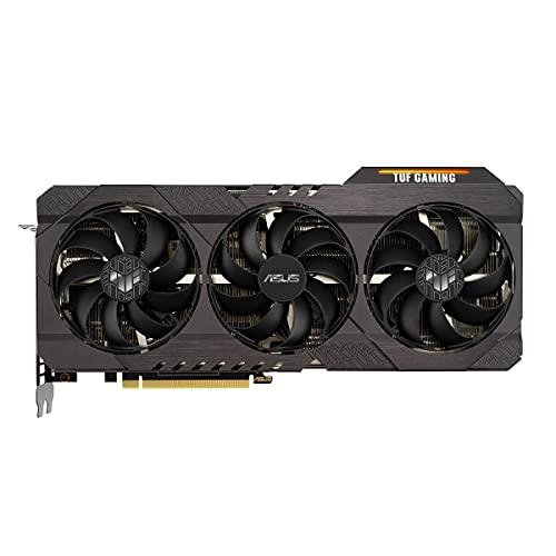ASUS TUF GeForce RTX 3070 V2 8 GB OC Version Gaming Grafikkarte (Lite Hash Rate (LHR), DLSS, PCIe 4.0, Raytracing, GDDR6 Speicher, 2x HDMI 2.1, 3x DisplayPort 1.4a, TUF-RTX3070-O8G-V2-GAMING)