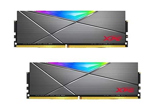 XPG DDR4 D50 RGB 16GB (2x8GB) 3200MHz PC4-25600 U-DIMM 288-Pin Desktop Memory CL16-20-20 Kit Titan