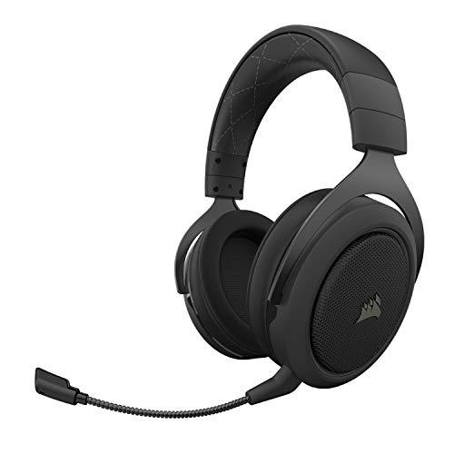Corsair HS70 Pro Wireless Gaming Headset – 7.1 Surround Sound Kopfhörer für PC, PS5 und PS4 – Discord Zertifiziert – 50 mm Treiber – Carbon
