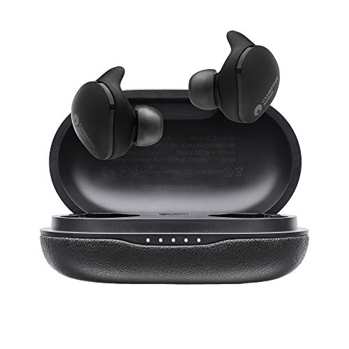 Cambridge Audio Melomania Touch Kabellose Kopfhörer, 50 Stunden Akku, Headest Bluetooth 5.0 In Ear Kopfhörer mit Mikrofon, Klare Sprachanrufe, Wasserfest, 7 mm Graphenverstärkter Treiber (Schwarz)