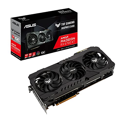 ASUS TUF Gaming AMD Radeon RX 6700 XT 12G OC Edition Gaming Grafikkarte