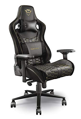 Trust Gaming GXT 712 Resto Pro Gaming-Stuhl, Schwarz, Normal