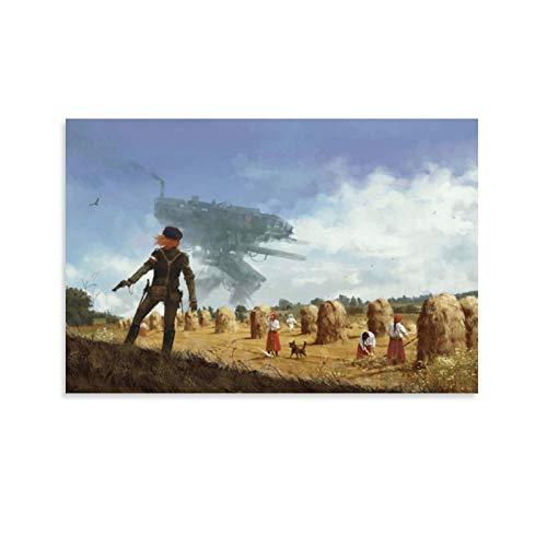 Iron Harvest Gemälde aus dem kommenden Videospiel, Leinwand-Kunst-Poster und Wand-Kunstdruck, modernes Familienschlafzimmerdekoration, 60 x 90 cm