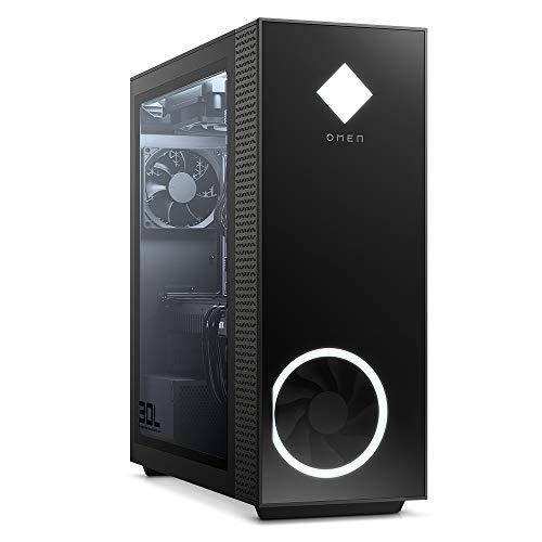 OMEN GT13-0010ng Gaming Desktop (Intel Core i9-10900F, HyperX XMP 32GB DDR4 RAM, 2TB HDD, 512GB SSD, Nvidia GeForce RTX 2080 Super 8GB GDDR6, RGB, Windows 10) schwarz mit Seitenfenster