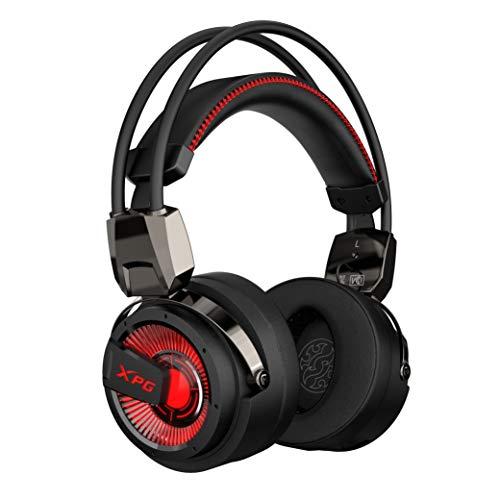 XPG Precog Gaming-Headset mit Mikrofon Hi-Fidelity Dual Treiber 7.1 Virtual Surround Sound (XPG Precog), Einheitsgröße, schwarz
