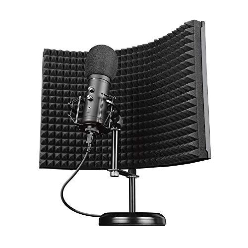 Trust Gaming GXT 259 Rudox USB Mikrofon mit Schaumstoff-Reflektor