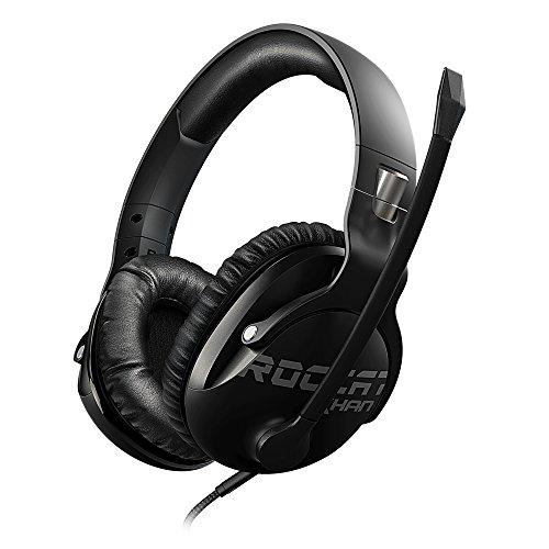 ROCCAT Khan Pro - Hi-Res Esports Gaming Headset (Stereo 3,5 mm, Superleichte 230 g, Multiplattform Kopfhörer für PC/Mac/Playstation 4/Xbox One/Nintendo Switch/Android/iOS/VR) schwarz