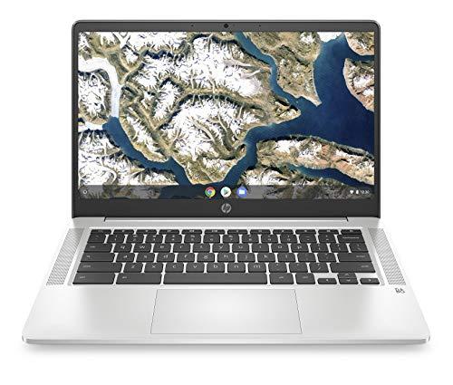 HP Plus Chromebook 14a-na0290ng | 14a-na0225ng (14 Zoll / Full HD IPS) Laptop (Intel Pentium Silver N5030, 128 GB eMMC, 8 GB DDR4 RAM, Intel UHD Grafik, Chrome OS, QWERTZ-Layout) Silber