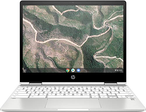 HP Chromebook x360 12b-ca0215ng (12 Zoll / HD+ Touch) 2in1 Convertible (Google Chrome OS, 2 x USB-C, lange Akkulaufzeit, 17,3 mm flach, Pen Dock, USI-Unterstützung) silber