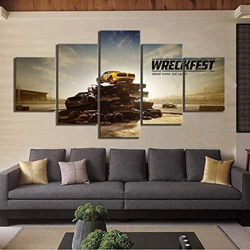 Airxcn Wreckfest Spiel Kreatives Geschenk 5 Panel Leinwand Wandkunst Leinwand Drucke Modern Home Wohnzimmer Dekoration Schlafzimmer Dekor HD Print Poster