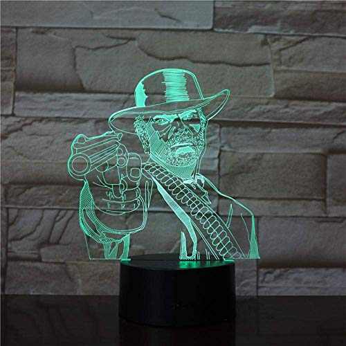 3D Illusion Lampe Schlafzimmer Dekoration Spiel Red Dead Redemption Geschenk Wohnkultur Arthur Morgan