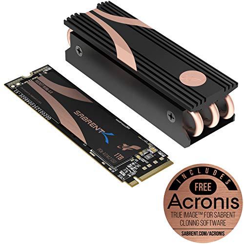 Sabrent 1TB Rocket Nvme PCIe 4.0 M.2 2280 interne SSD Maximale Performance Solid State Drive mit Kühlkörper (SB-ROCKET-NVMe4-HTSK-1TB)