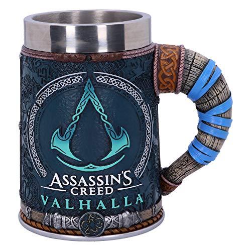 Nemesis Now B5335S0 offiziell lizenziertes Assassins Creed Valhalla Wikingerspiel, Harz, W. Edelstahl., mehrfarbig