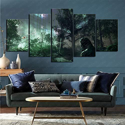 CELLYONE Kunstdruck auf Leinwand Poster Hängende Malerei Videospiel Chernobylite Geeignet für Wohnzimmer Schlafzimmer 150x80cm mit Rahmen