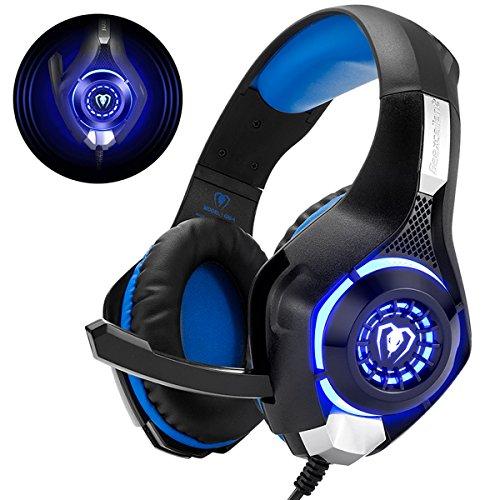 Gaming Headset für PS4 PS5 PC Xbox One, LED Licht Crystal Clarity Sound Professional Kopfhörer mit Mikrofon für Laptop Mac Nintendo Switch
