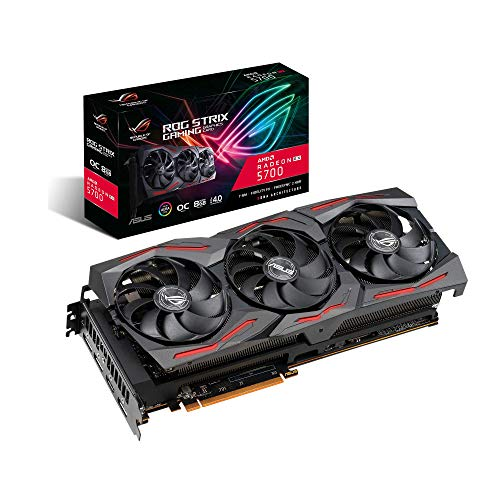 ASUS ROG Strix Radeon RX 5700 OC Gaming Grafikkarte (8GB GDDR6, PCIe 4.0, Aura Sync, Radeon FreeSync, HDMI, DisplayPort)