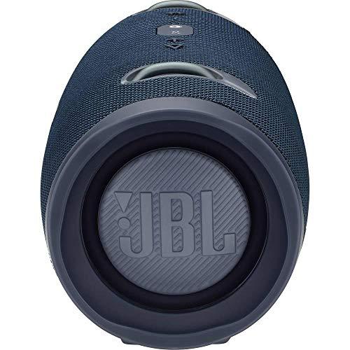 JBL Xtreme 2 Musikbox in Blau – Wasserdichter, portabler Stereo Bluetooth Speaker mit integrierter Powerbank – Mit nur einer Akku-Ladung bis zu 15 Stunden Musikgenuss