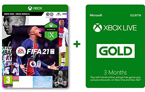 FIFA 21 (Xbox One Disk) and Xbox Live Gold 3 Monate (Download Code)