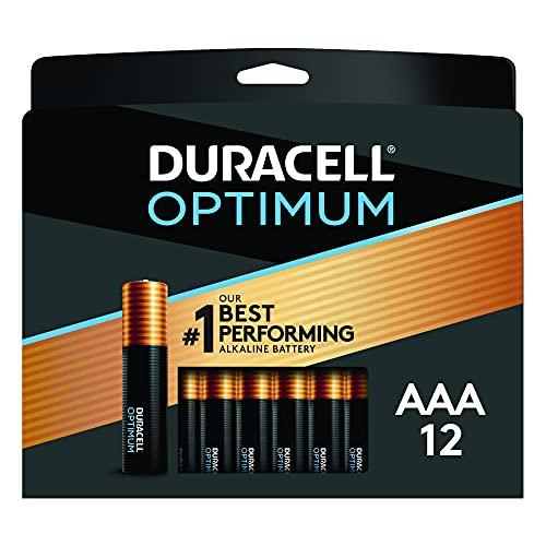 Duracell Optimum AAA Batteries   12 Count Pack   Lasting Power Triple A Battery   Alkaline AAA…