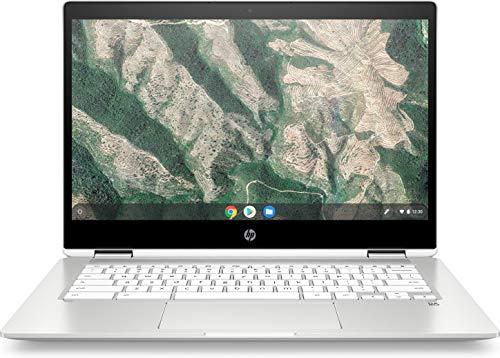 HP Chromebook x360 14b-ca0215ng (14 Zoll / FHD Touch) 2in1 Convertible (Google Chrome OS, 2 x USB-C, lange Akkulaufzeit, 18,8 mm flach, Pen Dock, USI-Unterstützung) silber