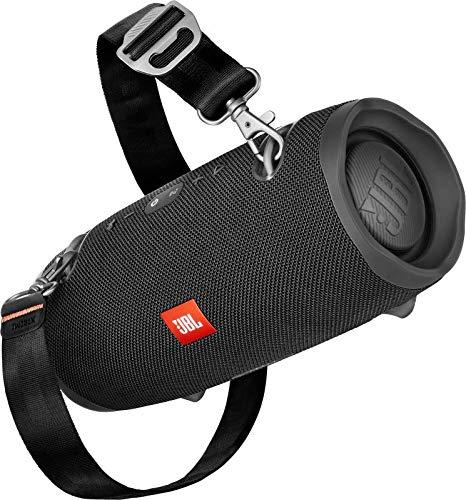 JBL Xtreme 2 Musikbox - Wasserdichter, portabler Stereo Bluetooth Speaker mit integrierter Powerbank - Mit nur einer Akku-Ladung bis zu 15 Stunden Musikgenuss Schwarz