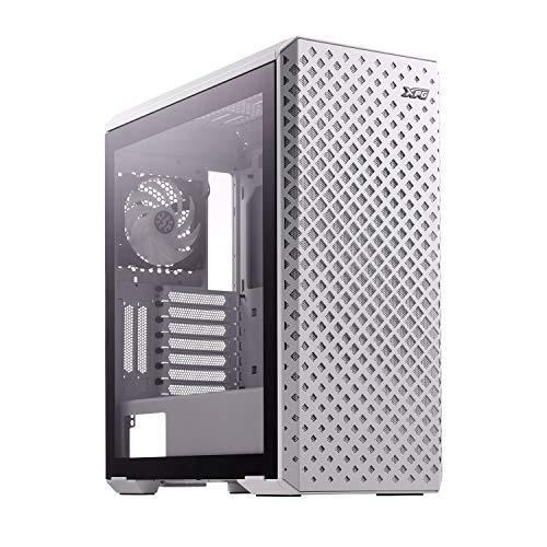ADATA XPG Defender Pro – ARGB – Mid-Tower – ATX – Gaming-PC-Gehäuse – Frontblende aus ARGB Mesh – Linke Seite aus gehärtetem Glas – 3 Lüfter ARGB XPG Vento 120 enthalten (weiß)