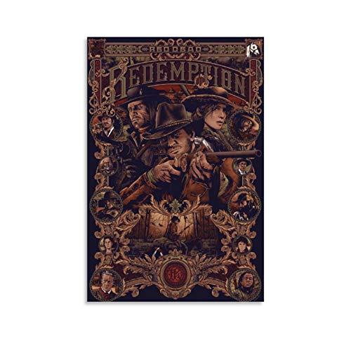 GANGPAO Red Dead Redemption 2 Poster auf Leinwand, Kunstwerk, Dekor-Poster