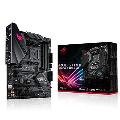 Asus ROG Strix B450-F Gaming II Mainboard Sockel AM4 (ATX, AMD Ryzen, DDR4 Speicher, USB 3.1, NVME M.2, SATA 6Gbit/s, Aura Sync, AI Noise Cancelling Mikrofon)