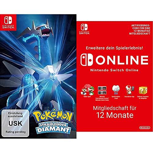 Pokémon Strahlender Diamant   Nintendo Switch - Download Code & Nintendo Switch Online Mitgliedschaft - 12 Monate   Switch Download Code