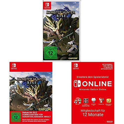 Monster Hunter Rise (Nintendo Switch) + Deluxe Kit (Download Code) + Online Mitgliedschaft - 12 Monate (Download Code)