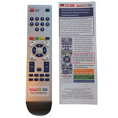 SmartTV4You Service-Fernbedienung kompatibel mit Samsung TV Serien AU Q.A und QN.A