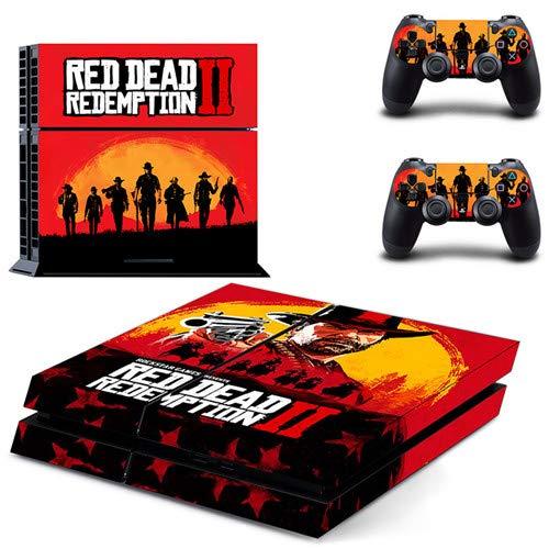 CIVIQ Red Dead Redemption 2 PS4 Skin Sticker für Sony Playstation 4 Konsole und Controller für Dualshock 4 PS4
