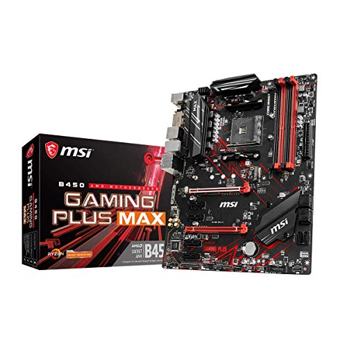 MSI B450 GAMING PLUS MAX (ATX, AMD AM4 DDR4 m.2 USB 3.2 Gen 2 HDMI ATX Gaming Motherboard)