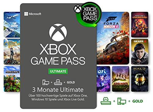 Xbox Game Pass Ultimate | 3 Monate Mitgliedschaft | Xbox/Win 10 PC - Download Code