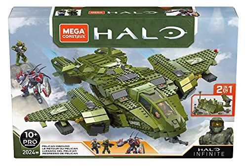 Mega Construx GNB28 Halo Infinite UNSC Pelican-Flugschiff, mit 2024 Bausteinen, ab 10 Jahren